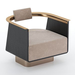 boston armchair chair 3D