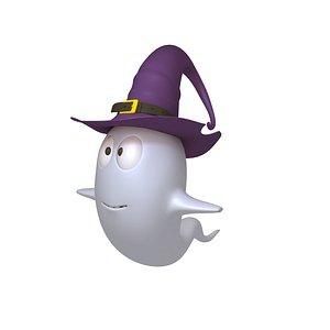 3D ghost cartoon model