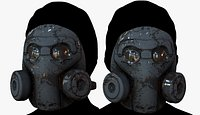 3D Gas mask respirator scifi futuristic model