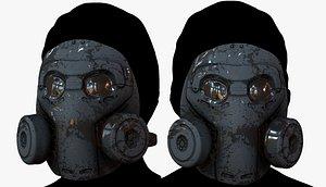 3D Gas mask respirator scifi futuristic model 3D model