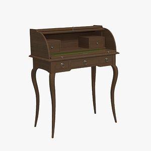 bureau desk table 3D model