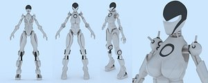 3D robot modeled