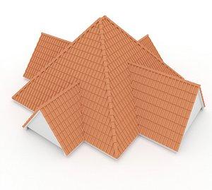 Realistic Roof Shingles 11 3D