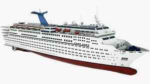 3D Cruise Ship Crystal Sea