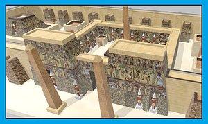 luxor temple 3D