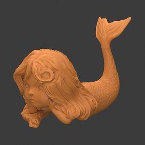 3D Mini Mermaid