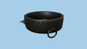 Gothic Choker Collar 06 Cobalt - Character Design Fashion 3D