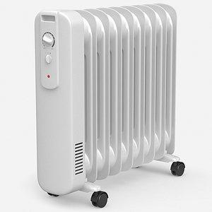 oil heater 3D model