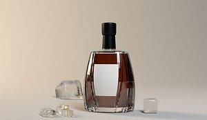 COGNAC bottle 3D