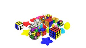 Different Type of Rubiks Cube Collection 3D