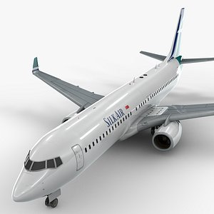 3D boeing 737-8 silk air model