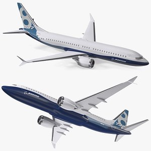 Boeing 737 Max 8 Scale 3D model