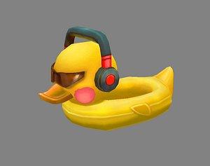 3D Cartoon duck swimming ring