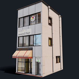 japanese japan pizza 3D model