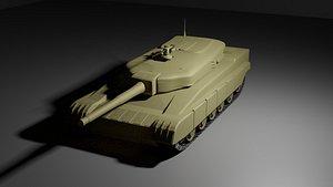 3D tank t-80 model