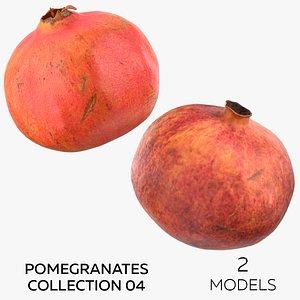 3D Pomegranates Collection 04 - 2 models