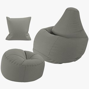 Bean Bag Chairs and Pillows Collection V3 model