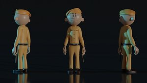 3D Indian Police model