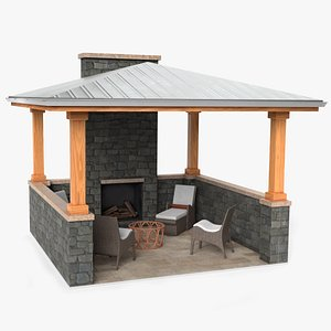 gazebo architecture shelter 3D model
