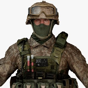 3D Military Male  Soldier