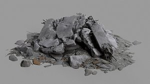 3D model Ruin Debris Rubble 04