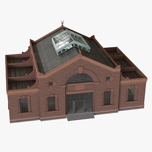 ready old industrial building 3D