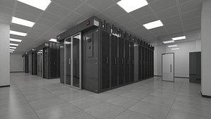 server room data 3D model