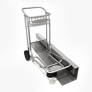 Airport Luggage Baggage Cart 3D model