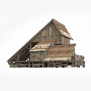 triangle ancient dwelling 3D model