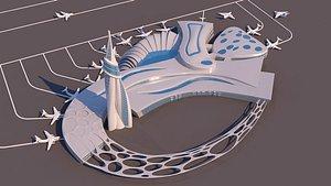 3D model port organic