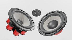 3D Speaker Woofer Focal Kit - Blender 3d model