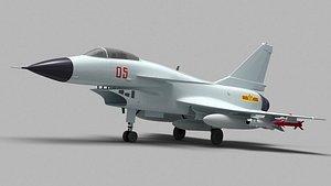 3D model chinese j-10 j