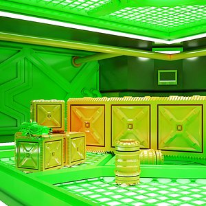 Sci-fi Corridor 04 HI-RES 3D model