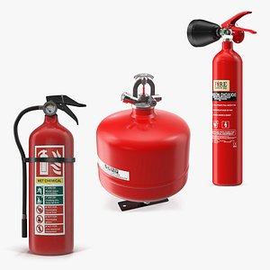 extinguisher fires 3D model