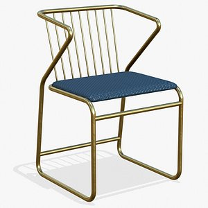 Luxury Dining Chair 3D