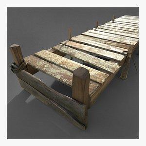 3D pier old wood model
