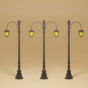 3D model Cartoon Street Light