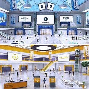 3D exhibition lobby