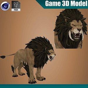 3D model Lion Rigged 3D model