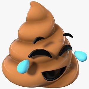 Tears of Joy Face Poop Emoji Smile 3D model