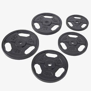 3D plate set weight