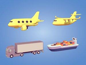 3D model Transport Vehicles Pack
