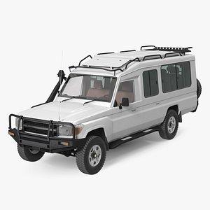 Safari Vehicle 4x4 Rigged 3D model
