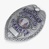 US Police Badge Silver