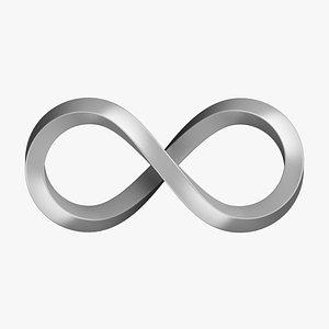 3D Infinity Symbol 01 model
