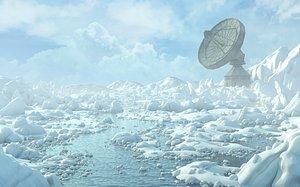 Arctic Radio telescope. 3D