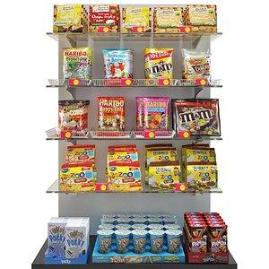 3D supermarket snack foods chips