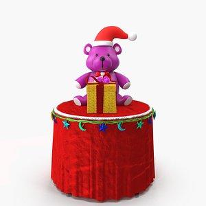 3D model christmas bear gift