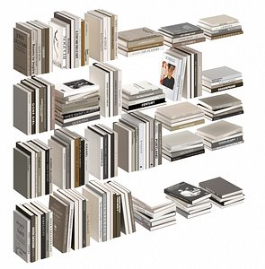 3D Delicate book collection