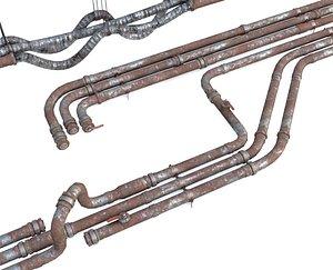 pipe modular rust 3D